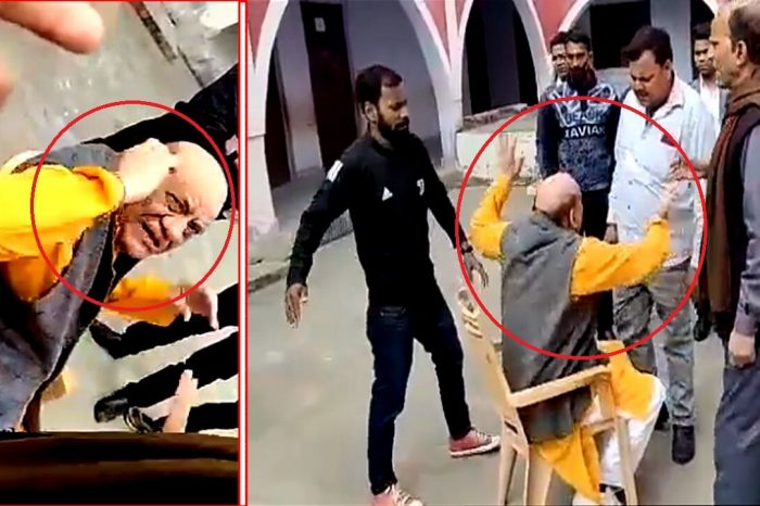 भाजपा के पूर्व विधायक पर छेड़खानी का आरोप, पिटाई के बाद कान पकड़कर मांगी माफी