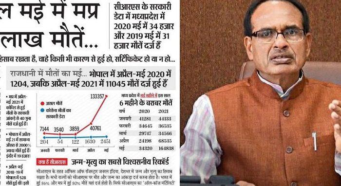 सरकारी डेटा: सिर्फ मई माह में मध्य प्रदेश में हुई थी 170000 लोगों की मौत