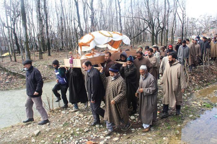 True Brotherhood: Muslim neighbours perform last rites of Kashmiri Pandit woman in Baramulla village of Kashmir