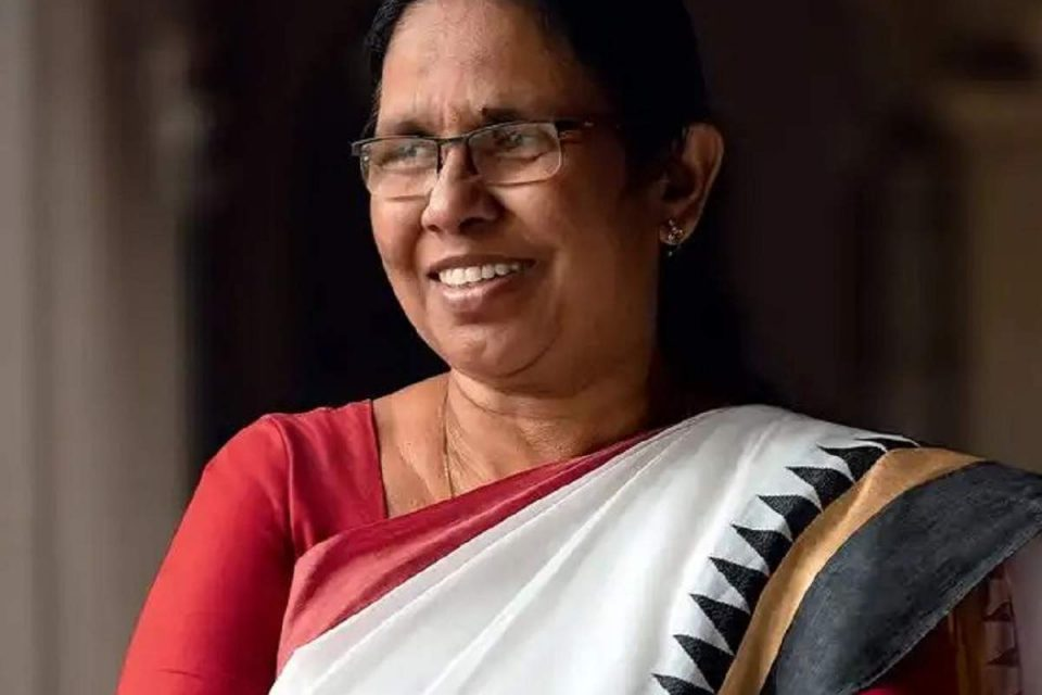 Woman Of The Year And Frontline Worker: The story Of Kerala's Beloved K.K. Shailaja