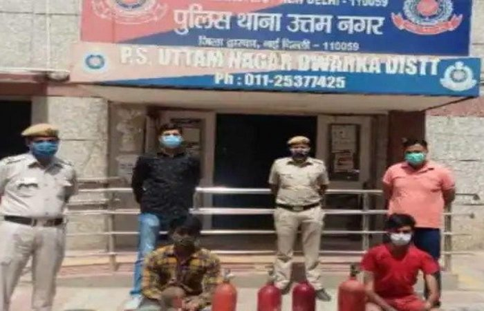 Delhi: Two arrested for selling fire extinguishers instead of oxygen cylinders to Covid patients