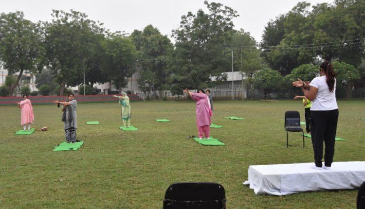 Yoga Day At Women's College, Aligarh Muslim University